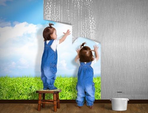 Lem kayu dan lem hpl Crona - pemasangan wallpaper
