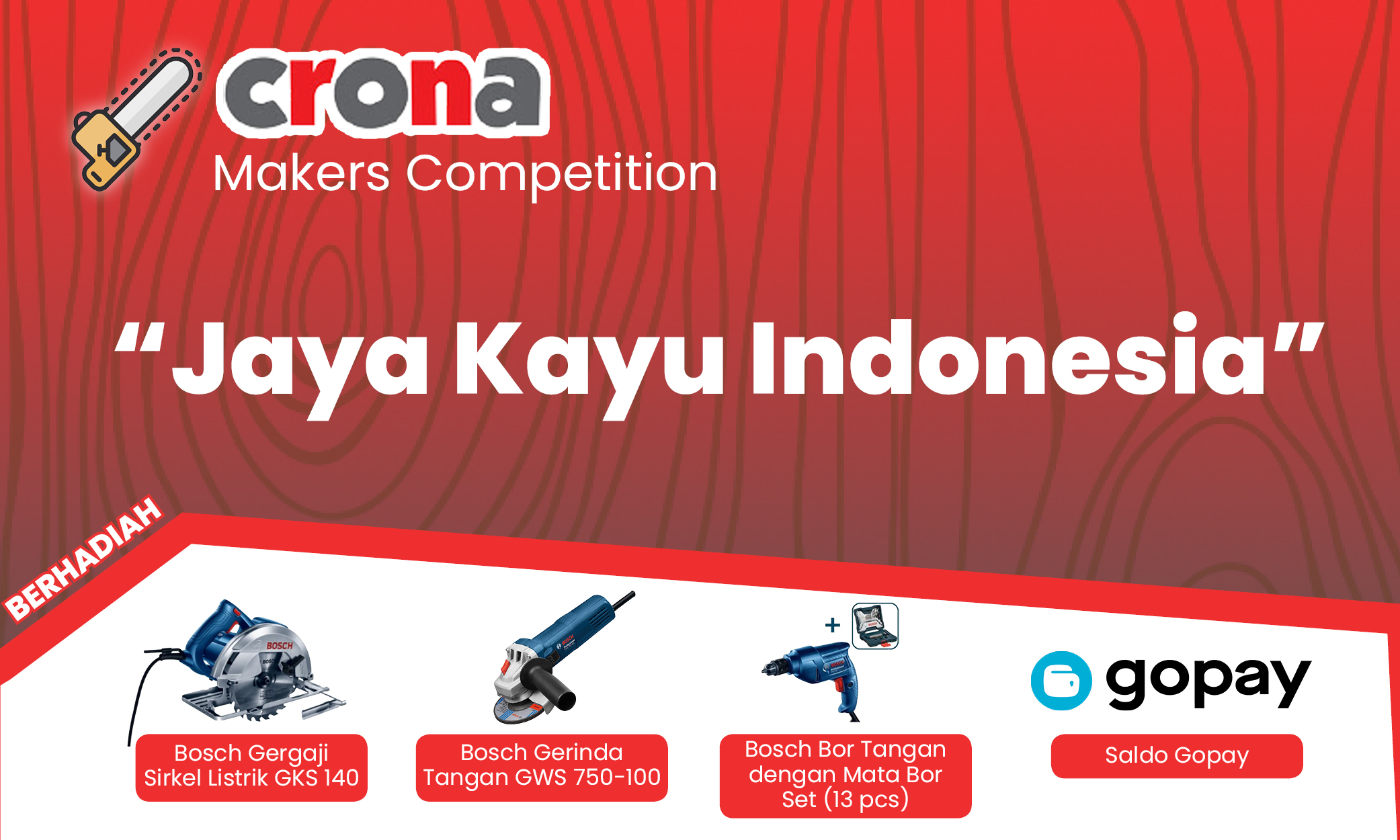 Lem kayu dan lem hpl Crona - Banners Maker Competition