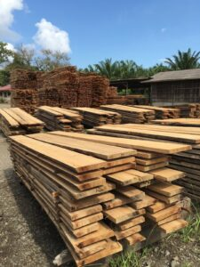 Lem kayu dan lem hpl Crona - lonzawoodprotection.com Air drying Meranti timber in Sabah